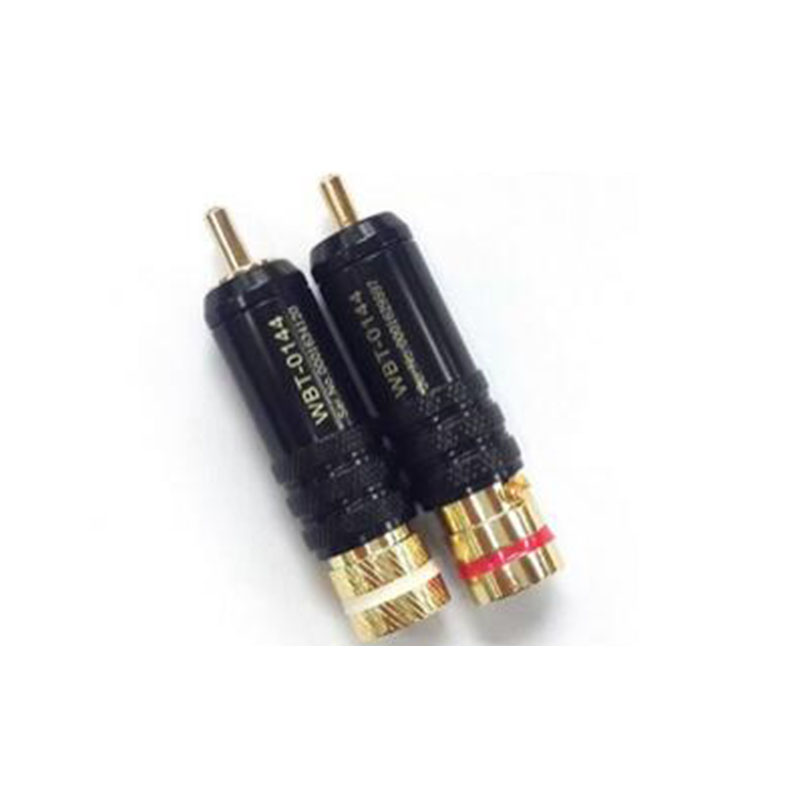 1pcs 8.0mm~8.5mm signal line plug solid copper core RCA connectors male plug lotus head copper RCA plug gold plated 30 pcs gold plated cable tv signal socket television antenna signal joint tv 9 5 mm mother head avoid weld