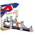 Os Edifícios Mundialmente Famosos Modelo Londres Gêmeos Ponte Brinquedos Modelo 3D Puzzle Brinquedos DIY Tijolos Criativo para As Crianças