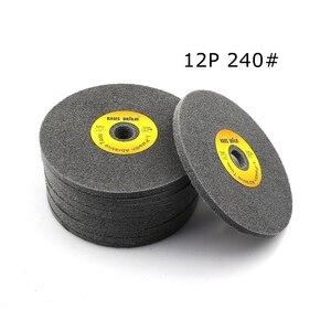 Image 4 - 10 pcs 150*6mm 7 p 12 p 부직포 unitized 휠 180 #240 #400 # 스테인레스 스틸 디버링 연마 용
