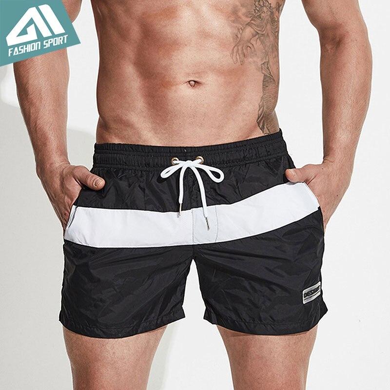 Desmiit Patchwork Men's Board Shorts Summer Beach Male Swimming Shorts Athletic Sport Running Gym Men Swim Shorts Homewear DT73