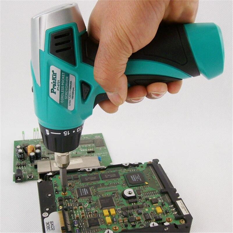 ФОТО PT-0721F 7.2V 1300mAH (AC 220V) Chargeable Screwdriver Set Unit