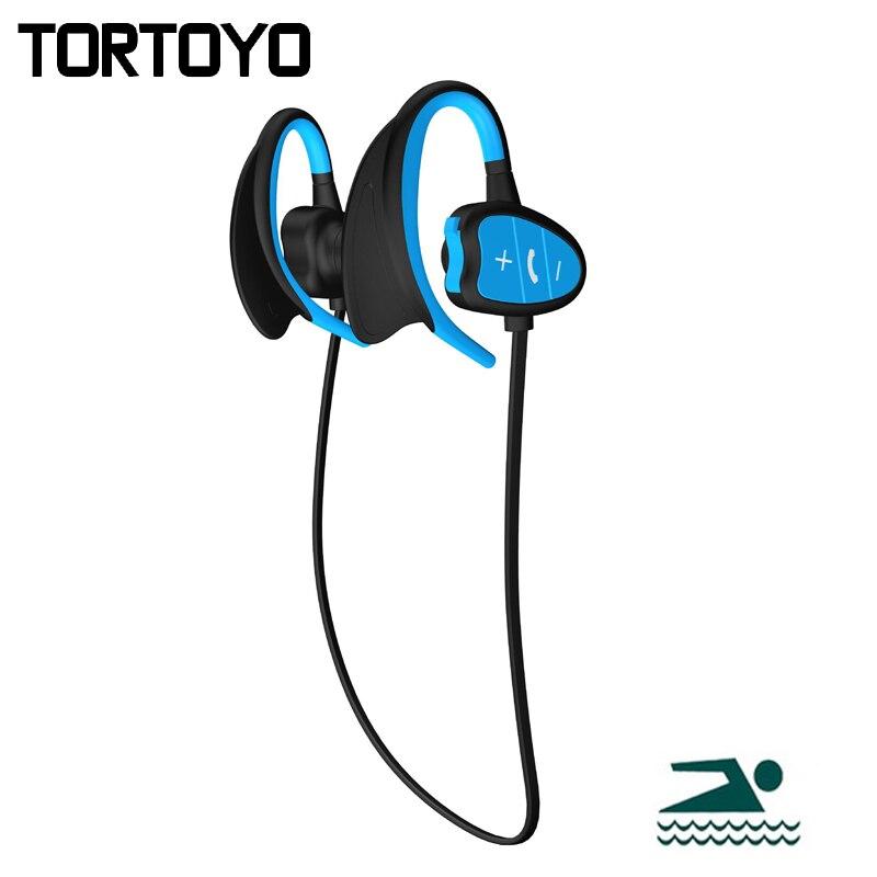BH802 Neckband Ear Hook Bluetooth Sports Headphone NFC IPX8 Waterproof Swimming Wireless Earphone Stereo Headset with Microphone bh 23 wireless headphone
