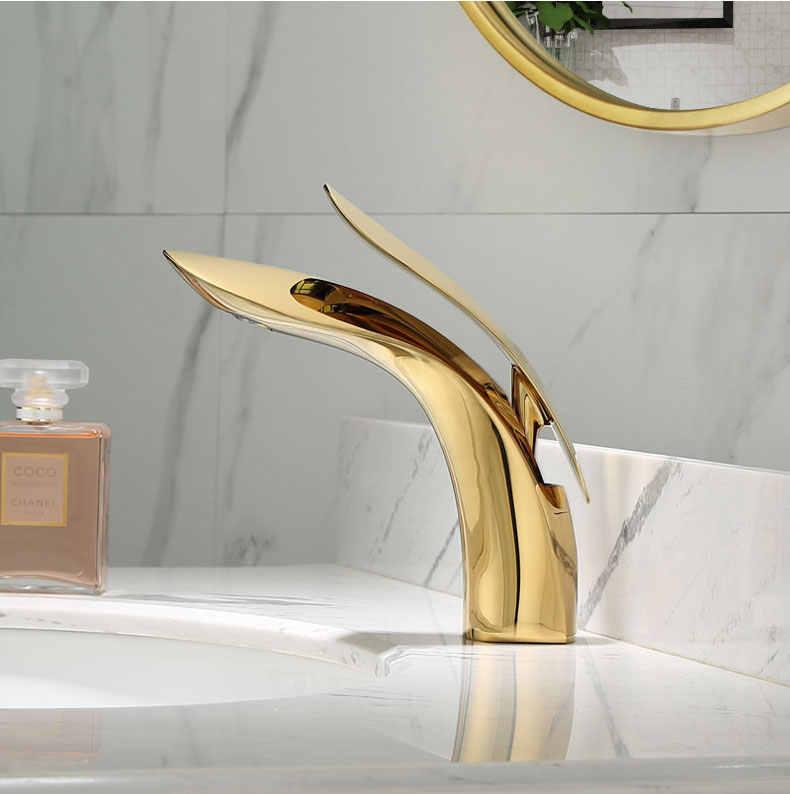 Basin Faucets Modern White Chrome Brass Bathroom Sink Faucet Single Handle Hole Toilet Bath Mixer Water Tap Crane W3025