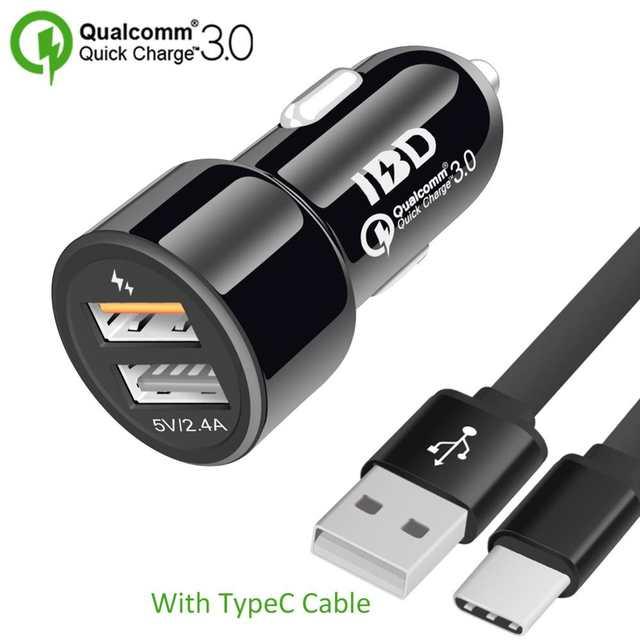 IBD322 podwójne porty szybka ładowarka USB 3.0 przenośna