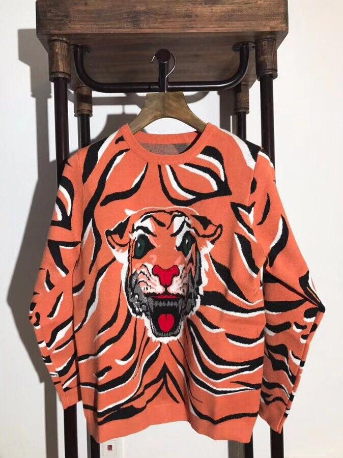 Fashion Mens Cartoon Sweaters 2018 Runway Luxury Brand European Design party style Mens Clothing K6211