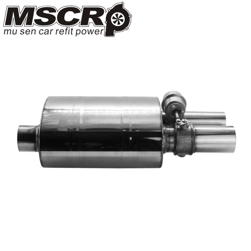 "Image 4 - Stainless Steel 2.5"" Straigh Outlet Tip 2.5""Inlet Weld On Single Exhaust Muffler with different sounds/Dump Valve Exhaust Cutout-in Mufflers from Automobiles & Motorcycles"