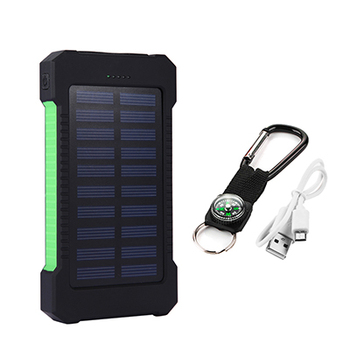 Top Sell Solar Power Bank Waterproof 20000mAh Solar Charger 2 USB Ports External Battery Charger Phone Poverbank with LED Light 9