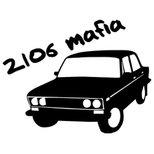 CS-1095#15*20cm VAZ 2106 Mafia funny car sticker vinyl decal silver/black for auto stickers styling decoration