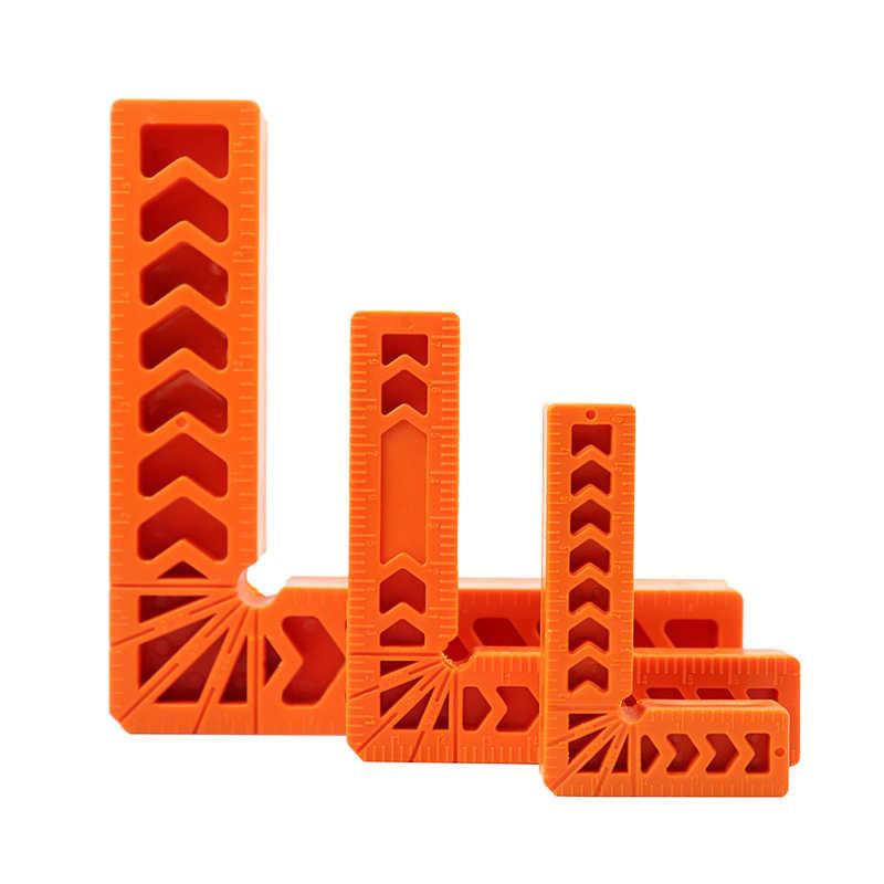 3 ''/4''/6 ''כיכר זווית שליט מד זווית 90 מעלות ימינה המיצוב זווית סימון מד עבור נגרות נגרות כלים