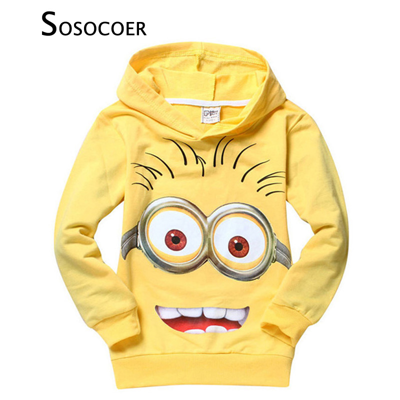 SOSOCOER Boys Outerwear Brand Spring Autumn Cartoon Boy Sweatshirts Anime Characters Print Girl Hooded T Shirt Coat Kids Clothes