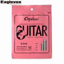 Carbon Filer Hard Tension Ukulele Guitar Strings Nylon Polyester 024/026″ Orphee KX80