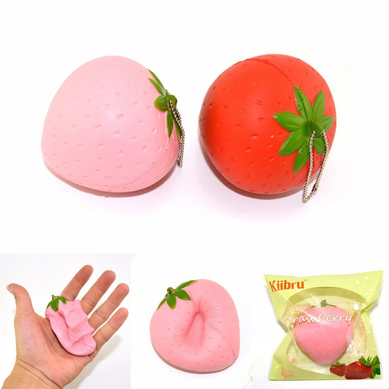 Kiibru Strawberry Squeeze Slow Rising 7cm With Original Packaging Candy Scented Fun Gift Decor Toy For Children Adult