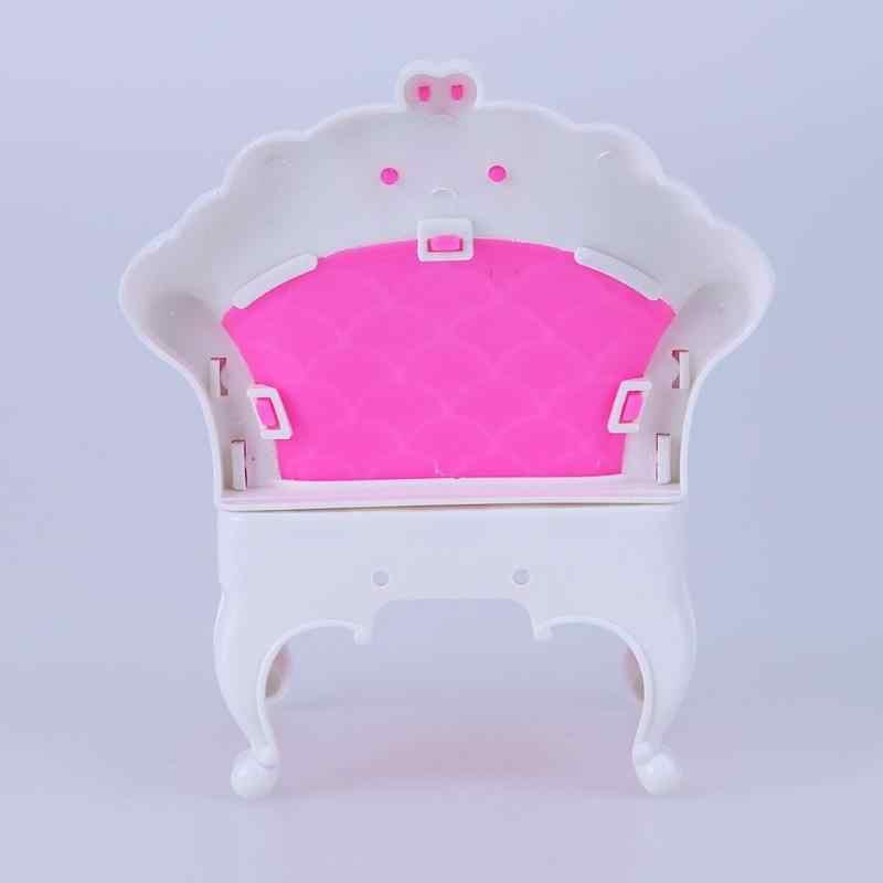 Estilo europa Dreamhoues Princesa Sofá Poltrona Meninas Pretend Play Toy Presente Doce Sonho Móveis Acessórios Da Boneca