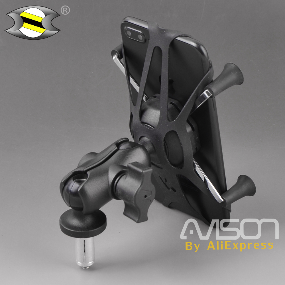 Motorcycle Phone Holder in Fork Stem Mount Bracket for KAWASAKI ZX600 / NINJA ZX-6RR ZX-14R ZZR1400 ZX14R ZX6RR cnc aluminum motorcycle steering damper stabilizer mount kit bracket support for kawasaki zx14r zzr1400 zx 14r 2006 2012 2007