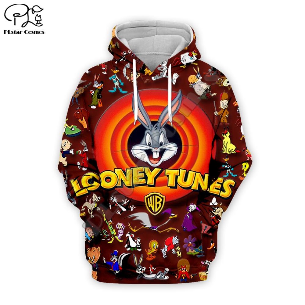 Men women Bugs Bunny 3d hoodies looney tunes print Sweatshirt zipper unisex casual Pullover autumn teens jacket