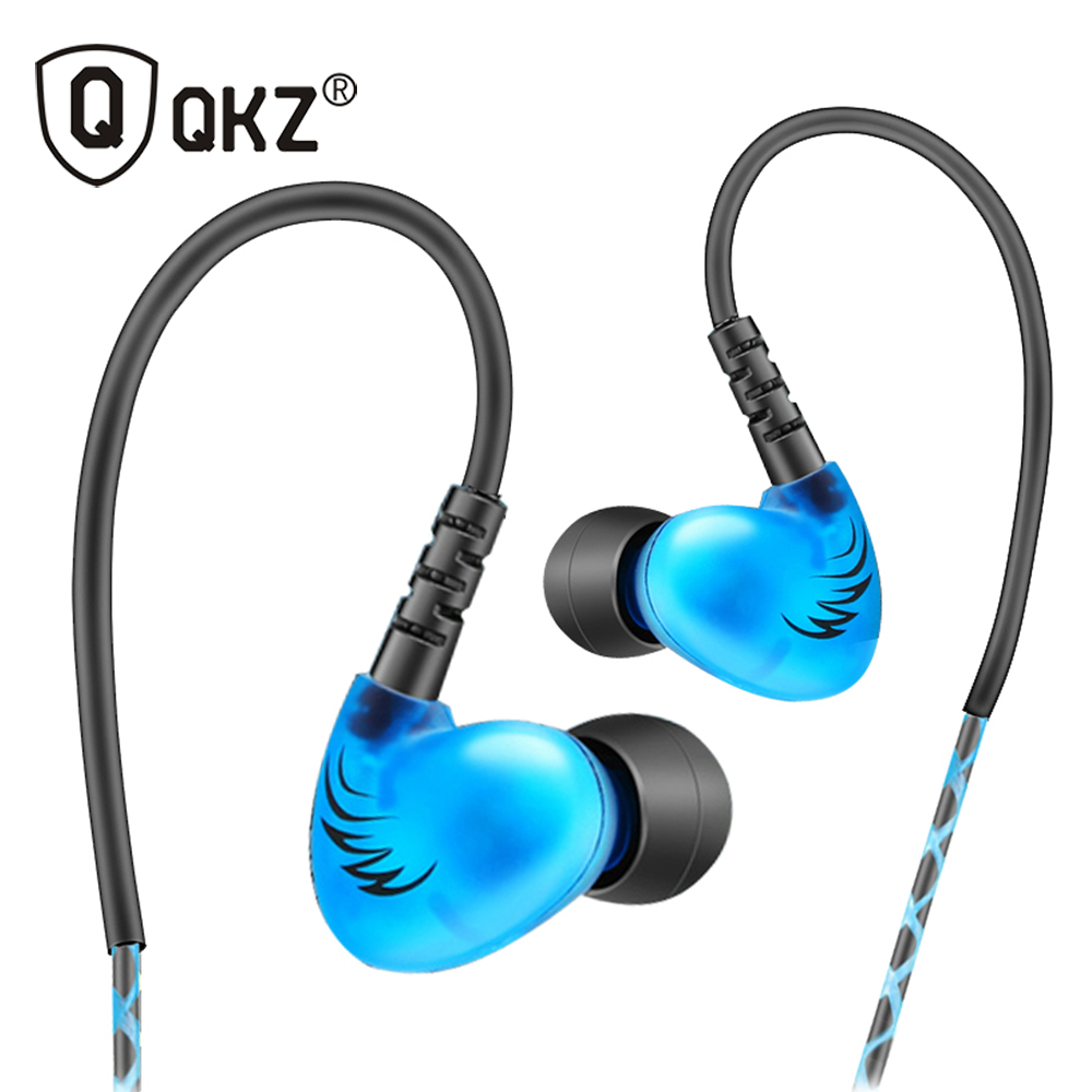 QKZ S6 Sports Running Earphone Mobile Phone Earphones WIth Mic HIFI Noise Cancelling fone de ouvido Bass Headsets Stereo qkz s13 in ear earphones running sport original hifi headsets music headset auriculares noise cancelling earphone fone de ouvido