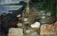 abstract modern art Moonlight on the beach by Edvard Munch paintings High quality Hand painted