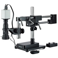 AmScope Industrial Inspection Zoom Monocular Microscope with Double Arm Stand and 1080p HDMI Camera H800 DAB 96S HD1080