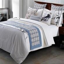 American Geometric Bed Blankets Blue Cobertor Spring Summer Winter Sofa  Hotel Blanket Manta Portable Car Air Conditioning Decor 6b9b960b9