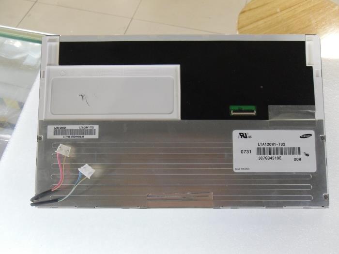 Free shipping New original 12 inch LCD screen LTA120W1-T02 portable DVD monitor free shipping n116bge e32 n116bge ea2 n116bge e42 n116bge eb2 lcd b116xtn01 0 screen edp lcd monitor