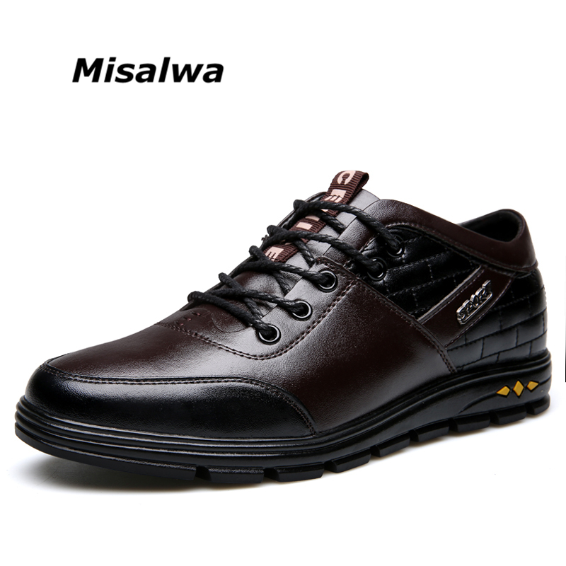 Misalwa Misalwa 2019 New Mens Casual Shoes Height Increase British Style Autumn Fashion Flats Men Footwear Elevator Shoes