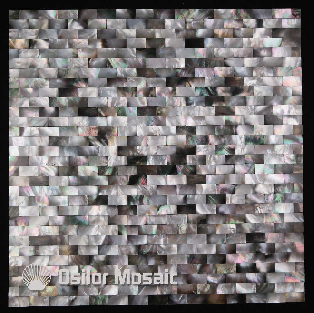 brick pattern 100% blacklip sea shell natural black color mother of pearl mosaic tile for interior house decoration wall tiles white color natural 100% capiz shell mother of pearl mosaic tile for living room or ceiling