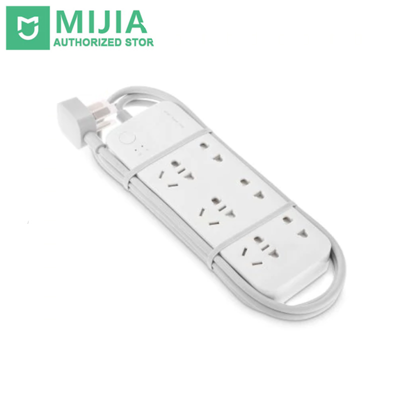 2017 Nuevo original Xiao mi Casas inteligentes tira enchufe smart power strip con WiFi App control remoto para TV Home Kit