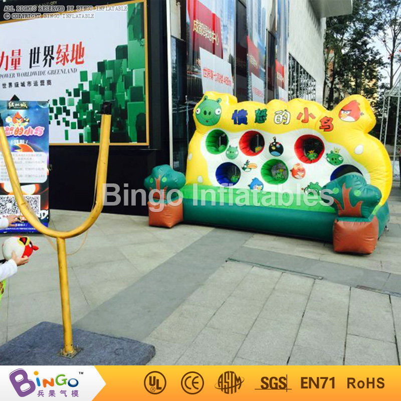 10ft*7ft*7ft PVC inflatable bird bouncer inflatable trampoline with blower, slingshot for kids inflatable toy