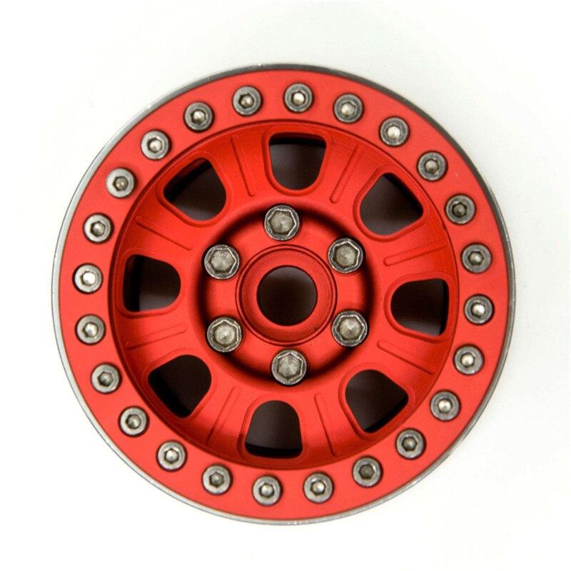 """4Pcs 1.9/"""" Beadlock Felgen Rims W// Hubs für Axial SCX10 CC01 1//10 RC Crawler #35"""