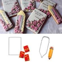 1 sztuk patisserie reposteria Book Pen Mold metalowe foremki do ciastek cukier kremówka narzędzia do dekoracji ciasta Cupcake czekolada forma do herbatników DIY