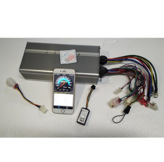 Fast Shipping Bluetooth 15000W 60V~120V Max 250A Suit <font><b>DC</b></font> brushless <font><b>motor</b></font> 4~<font><b>5kW</b></font> controller E-bike electric bicycle speed control image