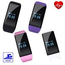 DFit D21 Smartband Moniteur de Fréquence Cardiaque IP68 Étanche De Natation SmartBand Bracelet Santé Fitness Tracker pour Android et iOS