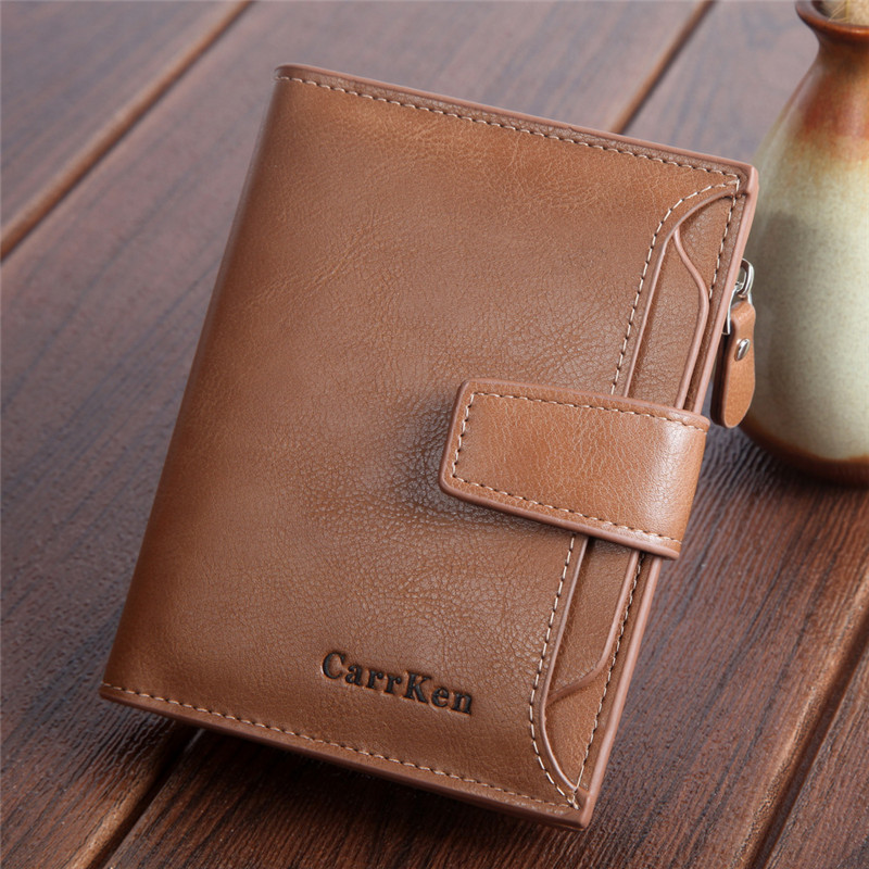 Wallets Purses Clutch Vintage Men's Unisex Genuine-Leather Card-Holder Multi-Card-Bit