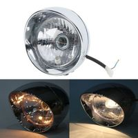 Motorcycle Chrome Front Bullet Headlight For Honda VT Shadow Ace Classic 500 700 750 1100