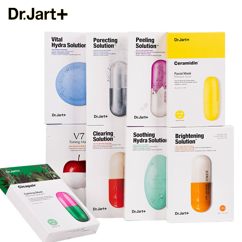 Dr.Jart+ Dermask Water Jet Soothing Hydra Solution Korean Facial Sheet Mask Hyaluronic Acid Anti Aging Face Bubble Black Mask