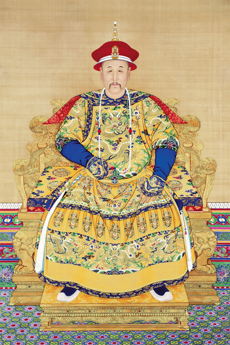 Canvas Painting Chinese Style Traditional Painting Emperor Yongzheng  By Giuseppe Castiglione Wall Decorative Art Decor