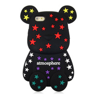 New Arrive Japan Cute Bear Phone Cases For Apple IPhone 6 Case 3D Cartoon Silicone Case