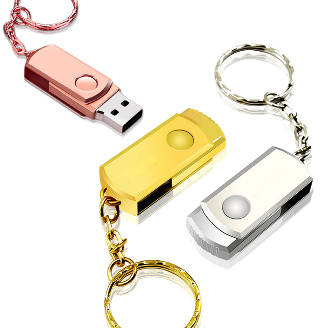 Image 3 - Pen Drive Pink Metal USB Flash Drive Key Ring USB Stick High Speed Pendrive Memory Stick 32GB 16GB 64GB 8GB Memoria Usb 2.0 Gift-in USB Flash Drives from Computer & Office