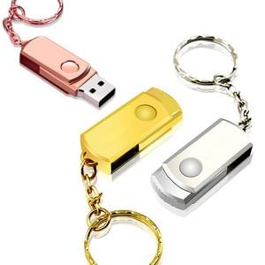 Image 3 - Pen Drive in Metallo Rosa Usb Flash Drive Portachiavi Usb Bastone Ad Alta Velocità di Memoria Pendrive Del Bastone 32 Gb 16 Gb 64 Gb 8 Gb di Memoria Usb 2.0 Regalo