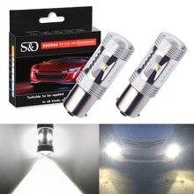 2 шт. 1156 BA15S светодиодные лампы авто противотуманные задние поворотники 6 SMD LED чип S25 P21W свет R5W лампы парковочные резервные огни Автомобильный источник света D040