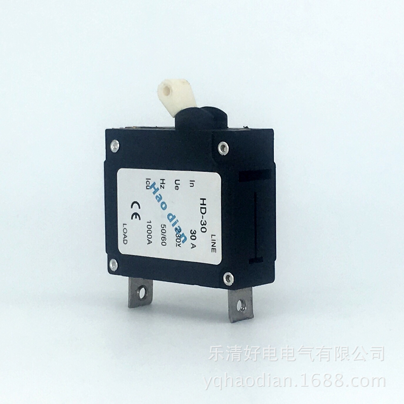 цена на 10pcs Hydraulic electromagnetic circuit breaker hd-30 1P/23A device protects the over-magnetic circuit breaker