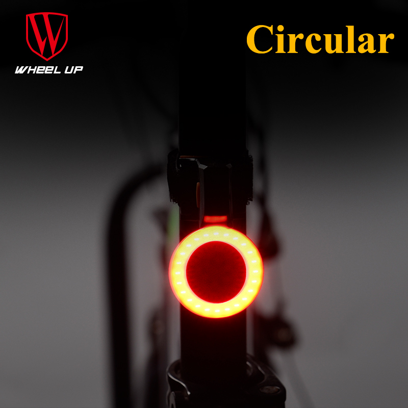 WHEEL UP 2017 New Heart&Round LED Lights Waterproof Cycling Taillight Bicycle Seatpost Light Fixed Gear Lamp Bike Parts стулья для салона led by heart 2015