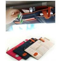 Auto Sun Visors Board Storage Bag Business Card Folder Glasses Stowing Tidying Organizer Automobiles Interior Accessories