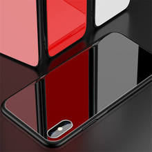 Luxuxy Tempered Glass phone Case for iPhone XS Max Protective Hard Back Cover Plating For iphone XR Capas Coque