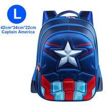 Superman Batman Spiderman Captain America Boy Girl Children Kindergarten School bag Teenager Schoolbags Kids Student Backpacks