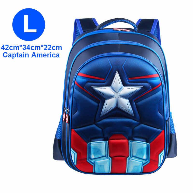 ... Superman Batman Spiderman Captain America Boy Girl Children  Kindergarten School bag Teenager Schoolbags Kids Student Backpacks ... 4d28bd9541112