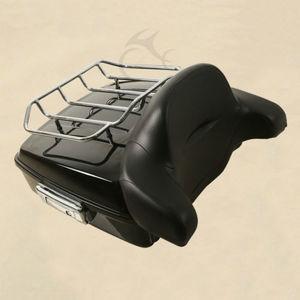 Image 4 - 할리 투어링 킹 스트리트 일렉트라 글라이드 flhr flhx fltr 14 19 용 래치 수하물 랙 + 등받이가있는 다진 팩 트렁크