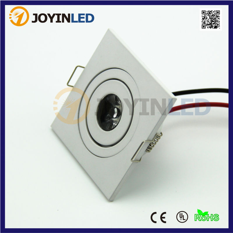85-265V 3W spot led luminarias cabinet led light White miniature indoor led downlight square