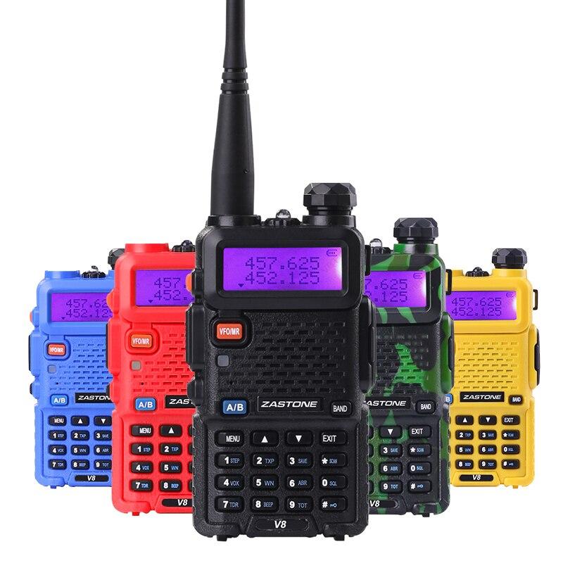 imágenes para Amateur Zastone ZT-V8 Walkie Talkie Radio Portátil de Doble Banda VHF UHF de Dos Vías Handheld Ham Radio envío libre de Rusia