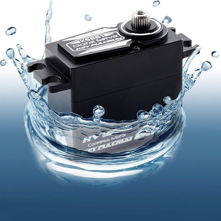 1 PC K5861 étanche Servo DC6V 7.4V en métal engrenage direction Servo couple élevé 32 KG silencieux magnétique serveur W roulement à billes pour voiture RC